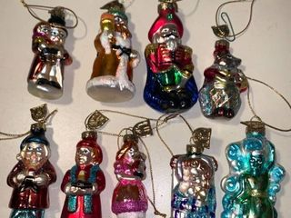 lot of 9 Glass Christmas Ornaments location 1C