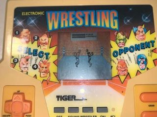 1988 Hand Held Electronic Wrestling By Tiger Works location Bar