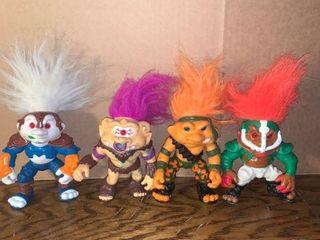 lot of 4 Battle Trolls 1992 Hasbro location Bar