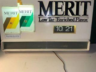 Vintage Merit Cigarettes light Clock Works location Basement BR