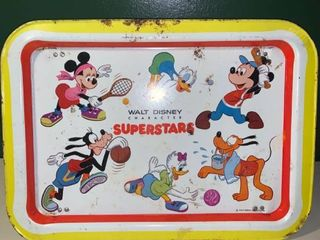 Vintage Walt Disney Character Superstars Metal Tray location 2D