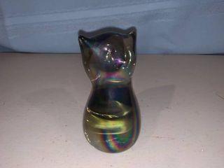 Iridescent Art Glass Cat location Bar
