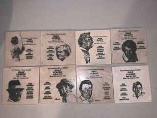 lot of 8 Childrens Mercy Hospital Golf Classic Coasters Tom Watson 1980s location Bar