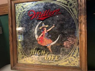 1984 Miller High life Bar Mirror location Basement BR