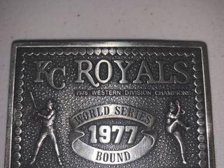 1977 Bergamot Kansas City Royals Belt Buckle location Bar