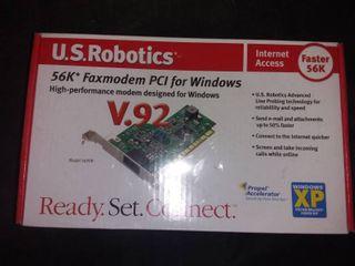 US Robotics V 90 V 92 Internal PCI Faxmodem