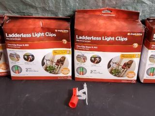 lot of 4 Simple living Innovations 75ct ladderless light Clips with Pole Adapters