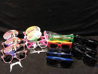 lot of 15 Various Oddly Shaped Sunglasses location Shelf 4