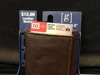 George Brand leather Wallet Tri Fold Flip with ID RFID Protection location Shelf 4