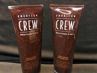lot of 2 American Crew Brand Unopened Firm Hold Styling Gel location Shelf 4