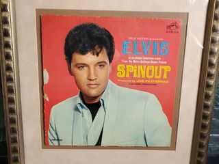 Elvis Vinyl Record Cover  Framed  From the Picture  SPINOUT