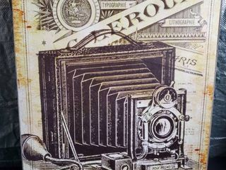 Vintage Camera Wall Decor Print on Canvas