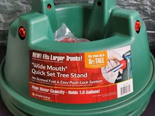 lot of 2 Simple living Solutions Quick Set Tree Stand Up To 8ft