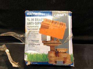 3 4 in Brass Anti Siphon Automatic Sprinkler Valve location Shelf 4