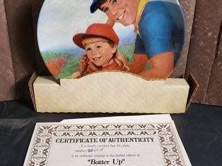 Batter Up  by Betsy Bradley  Decorative Plate with Certificate