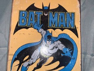 Retro Batman Tin Sign location Shelf 1