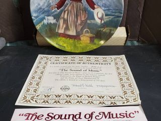The Sound of Music  by T Crnkovich  with Certificate  Decorative Plate