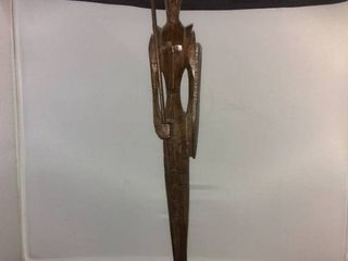 Wooden Statue Of A Tribesman