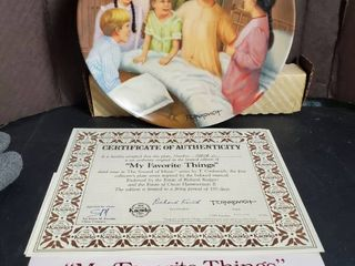 My Favorite Things  by T Crnkovich  Decorative Plate  with Certificate