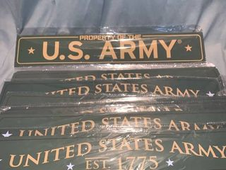 lot of 11 U S  Army Metal Signs lot of Seven Columbia   Seperate