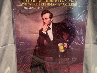 Tin Abraham lincoln Beer Sign lot of Seven Columbia 7 1 4 Inch Hemostats location Shelf 7