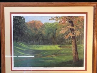 Painting of Royal Oaks Golf Course location near Shelf P4
