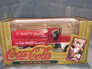 Coca cola Advertising Die cast Metal Bank Ertl Toy Co  Red Kenworth Tanker 1994 location Shelf 1