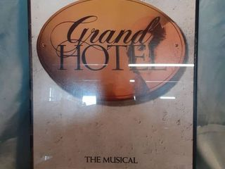 Framed Theatre Poster of Grand Hotel The Musical