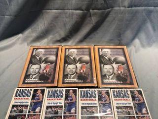 Kansas University Basketball VHS Tapes location Shelf 3