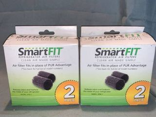 Two 2 Packs of SmartFit Refrigerator Air Filters Model SFRE 1 location Shelf 2