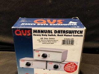 QVS Manual Data Switch Heavy Duty Integral Reset Switch location Shelf 4