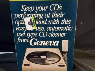 Geneva Pf 740 Video Tape Cleaner Vintage Rare  euc