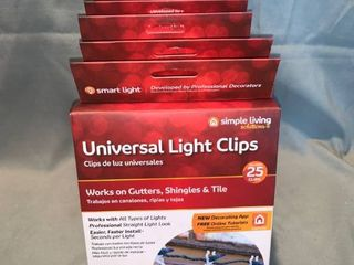 lot of 7 Simple living Solutions 25ct String light Universal light Clips  Clear