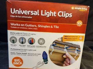 Simple living Smart light Universal light Hanger Clips White Polypropylene 300 count
