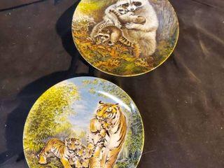 Pair of The Wildlife Society Plates
