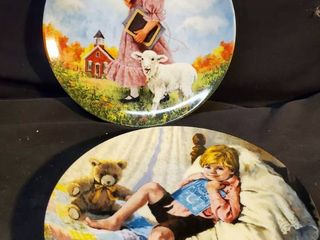 Pair of Mother Goose Collectible Plates