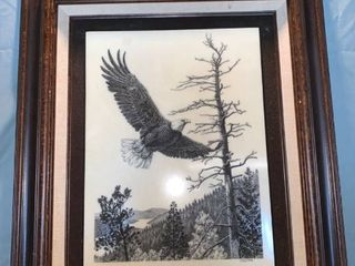 Wings Of Freedom Marble Etching By P B  Wolfe location Shelf 2