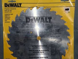 DEWAlT DW3370 10 Inch 28 Tooth Combination Saw Blade with 5 8 Inch and Diamond Knockout Arbor location Shelf 1