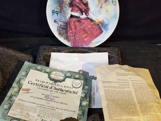 Gigi Hand Painted Collectible Plate