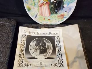 le Petit Chaperon Rouge Hand Painted Plate