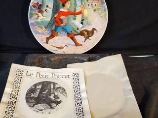 le Petit Poucet Hand Painted Collectible Plate