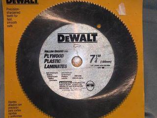 DeWalt 7 1 4 Inch Hollow Ground Plywood Plastic laminate Saw Blade location Shelf 1