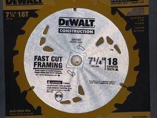 DeWalt 7 1 4 Inch 18T Fast Cut Framing Saw Blade location Shelf 1