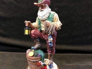 Finely Detailed Cowboy Santa Figurine location Shelf 4