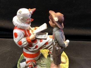Dave Grossman Designs The Saturday Evening Post Co 1975 Clown and Child Figurine location Shelf 4