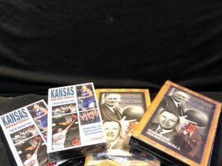lot of 4 Kansas University Basketball 1999 Highlight Videos location Shelf 4