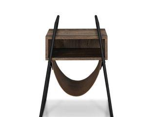 Furniture of America laul Rustic Oak Open Shelf End Table Retail 169 99