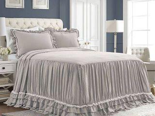 lush Decor Ella Shabby Chic Ruffle lace Bedspread Set Retail 132 99