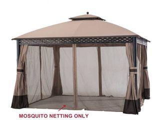 Sunjoy Original Manufacturer Replacement Mosquito Netting for Windsor Gazebo  10 X12  Model l GZ717PST C Retail 144 49