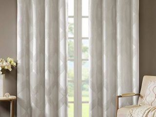 Closeout  SunSmart Bentley 50  x 84  Ogee Jacquard Total Blackout Window Panel